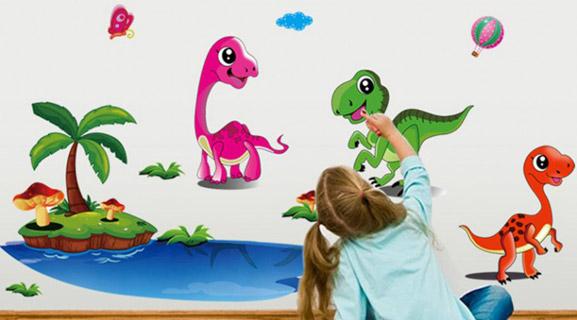 Čudovite otroške stenske nalepke